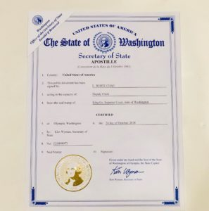 Apostille your state