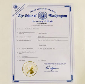 Apostille for Birth Certificate